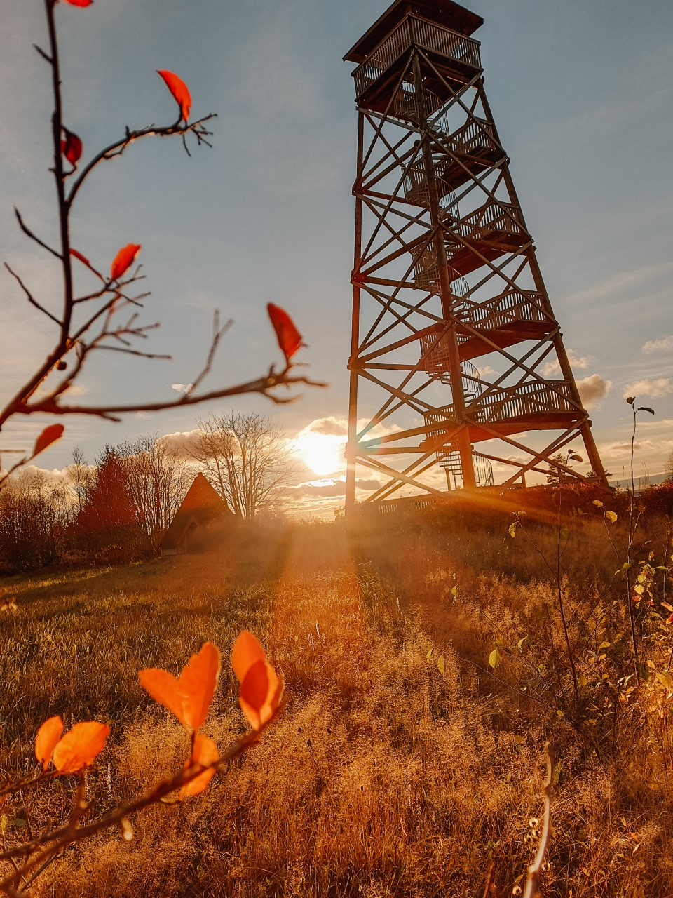 Pyhäjärven näkötorni syksyllä