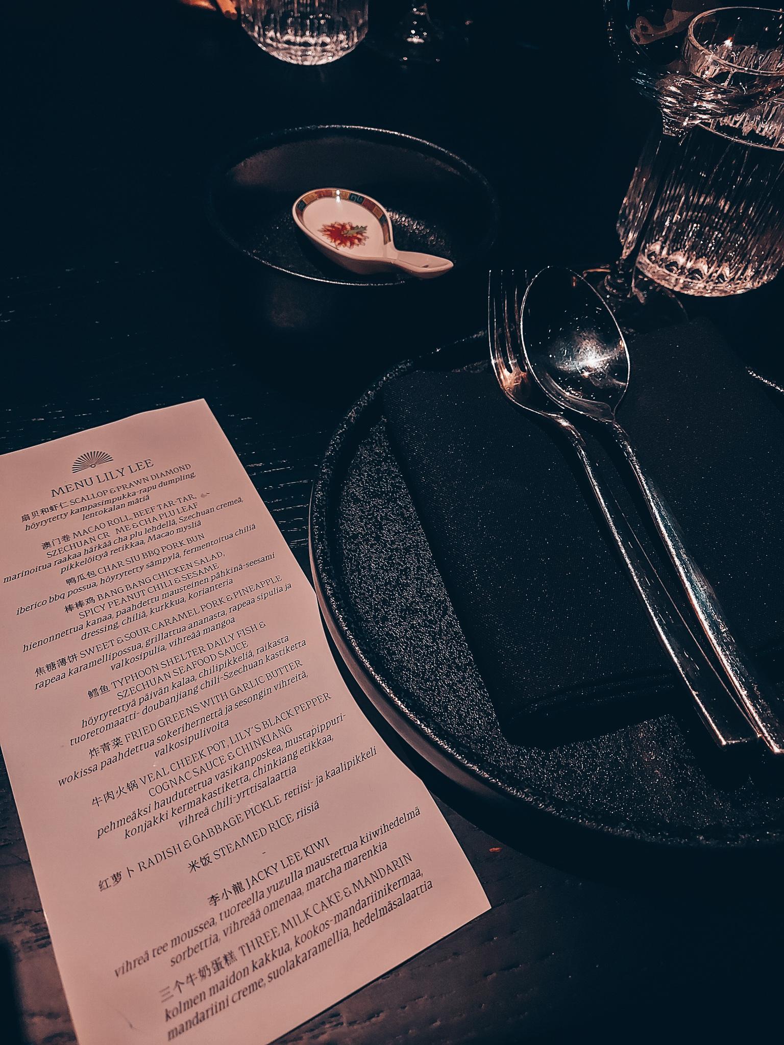 Lily Lee menu